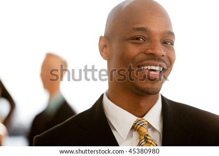 An african american business man - stock photo