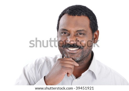 An african american man isolated - stock photo