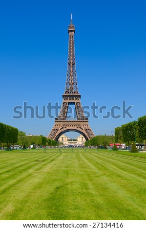 An afternoon with the Eiffel Tower, a summer in Paris, France