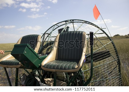 An air boat in the Everglades National Park