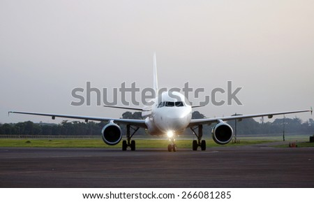 An Airbus Type A320       - stock photo