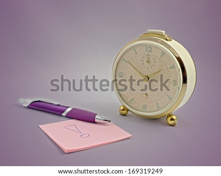 An alarm clock from the 60ies - stock photo