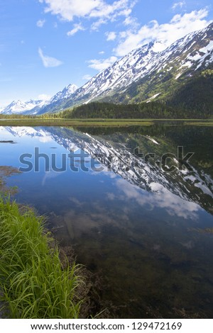 An Alaskan Lake - stock photo