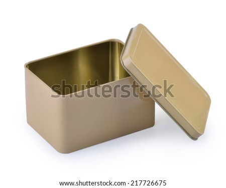 An aluminum Box isolate white background - stock photo