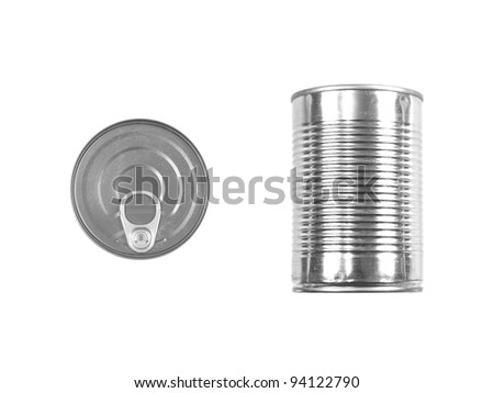 An aluminum can top isolated against a white background - stock photo