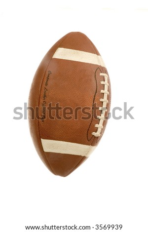 An American adaptation of the English rugby football isolated over a white background - stock photo