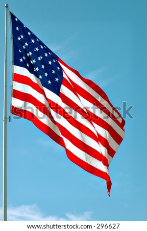 An American flag. - stock photo