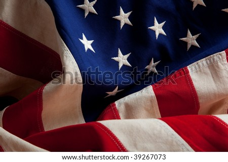 An american flag as a background - stock photo