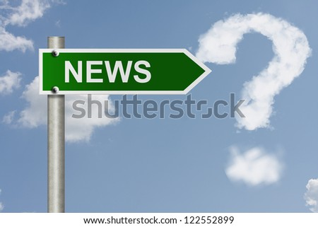 An American road sign with sky background and copy space for your message, Get your news here