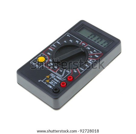 An analog multimeter on a white background.