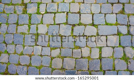 An ancient road in Italy. - stock photo