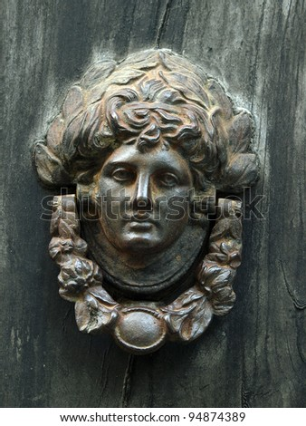An Antique Door Knocker - stock photo