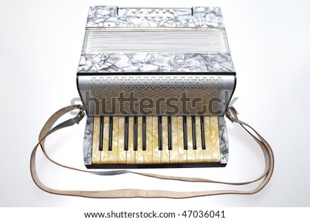 An antique French style accordion.