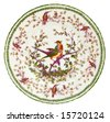 An antique Paris porcelain plate dating to the mid 19th century - genuine antique series - stock photo