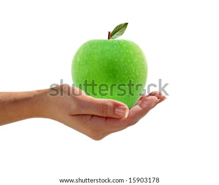 An apple a day - stock photo