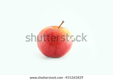An Apple close up isolated on white background