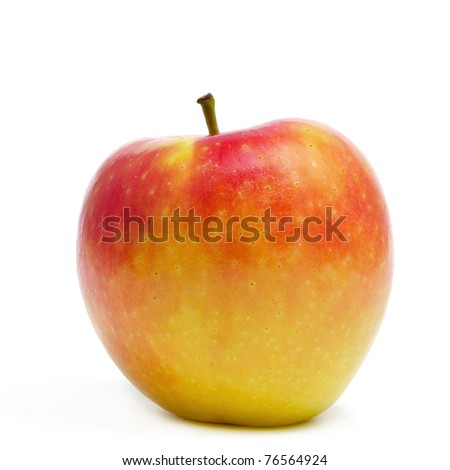 an apple isolated on a white background - stock photo