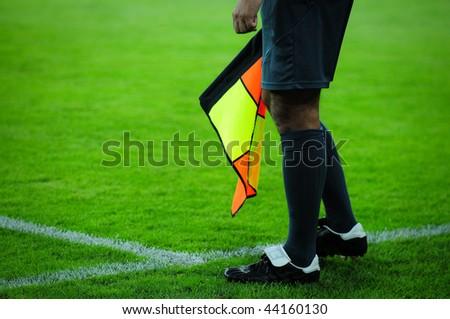 an arbiter is football - stock photo