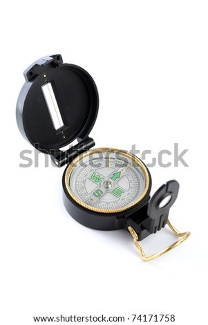 An army compass isolated on white background.