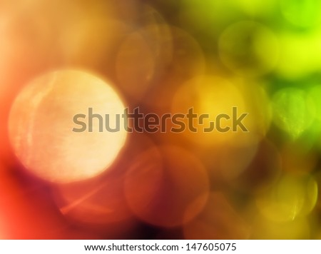 An arrangement of different shapes and multicolored spots. - stock photo