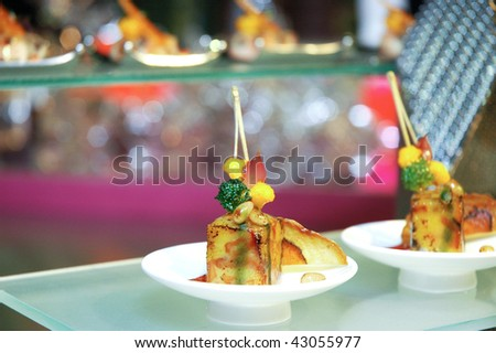 an artistic dish from singapore - stock photo