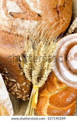 An assortment of bakery fresh bread - stock photo