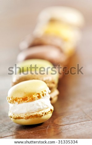 an assortment of french macaron sweets - stock photo