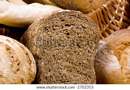 An assortment of fresh breads... straight from the oven..