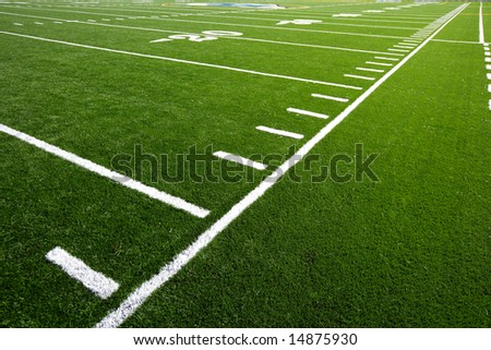 An astro turf football field