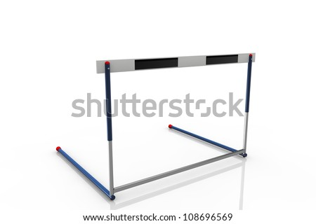 An athletics hurdle