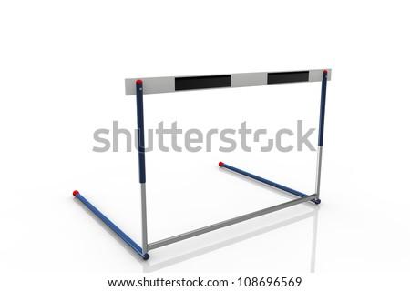 An athletics hurdle - stock photo