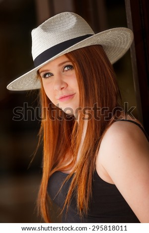 An attractive and fashionable young woman - stock photo