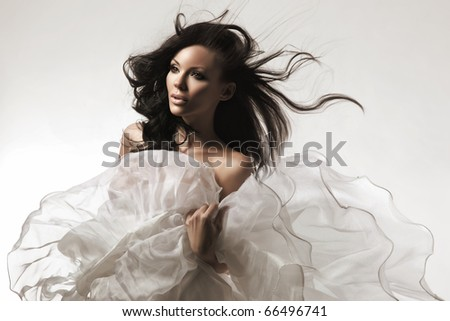 An attractive brunette beauty - stock photo
