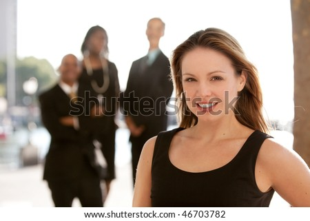 An attractive caucasian business woman - stock photo