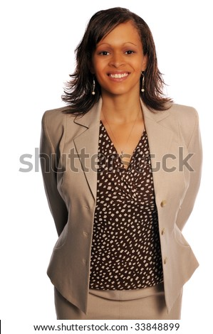 an attractive young business woman showing her style - stock photo