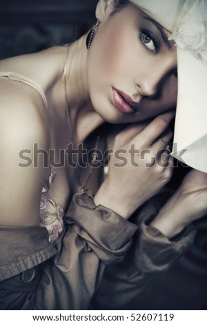 An attractive young lady - stock photo