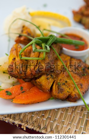 An authentic Moroccan food dish - stock photo