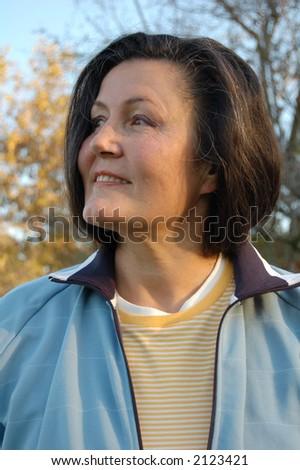 An autumn portrait. - stock photo