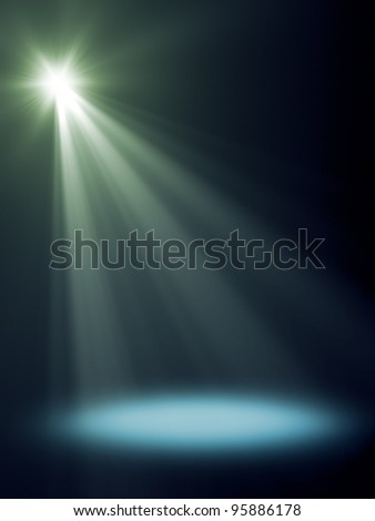 An background image with a blue stage light - stock photo