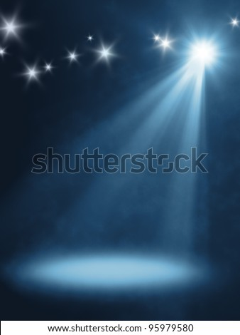 An background image with a orange stage light - stock photo