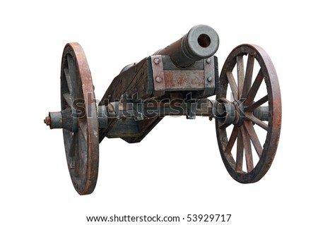 an cannon isolated on white background - stock photo