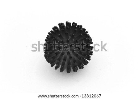 an cat toy converted to black and white strange looking - stock photo
