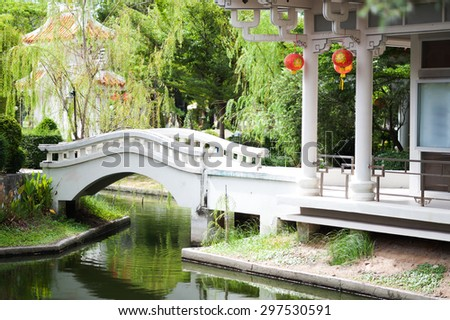 An Chinese garden in nature place .