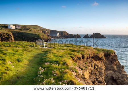 An early summer morning at Long Cove near Padstow on the north coast of Cornwall - stock photo
