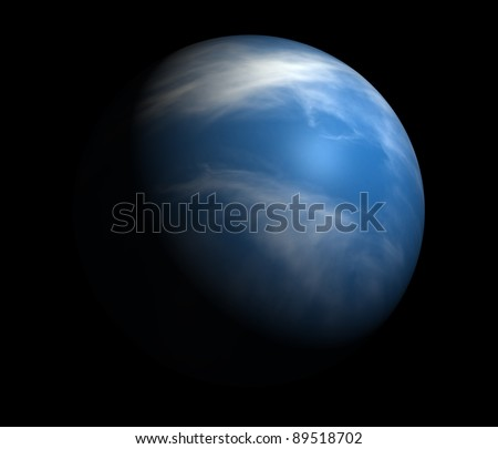 An Earth-like planet beyond our solar system. Isolated on black. - stock photo