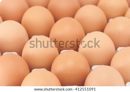 an egg on top view (selective focus) - stock photo