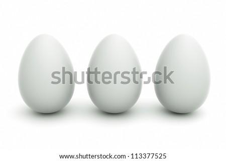 an eggs on white - stock photo