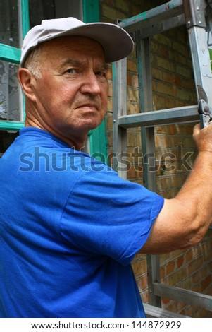 An elderly man - stock photo
