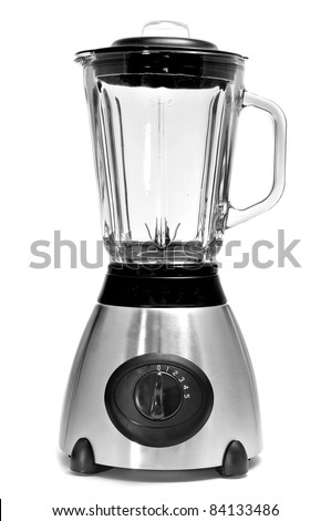 an electric blender on a white background - stock photo