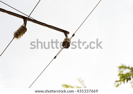 an electric cable for electric trains